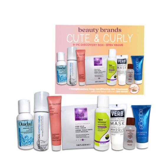 Beauty Brands Cute & Curly 9-Pc Discovery Box