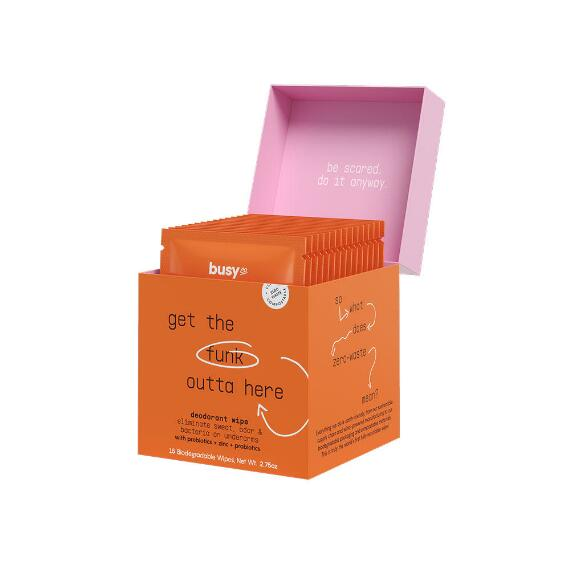 Busy Co. Refresh Antibacterial Deodorant Wipes