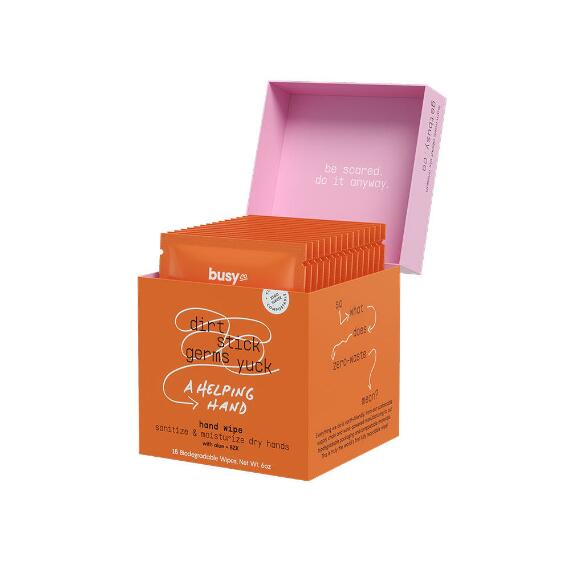 Busy Co. Refresh Hydrating Hand Sanitizing Wipes