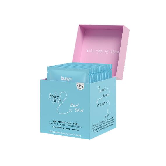 Busy Co. Calm Age Defense Facial Serum Pads