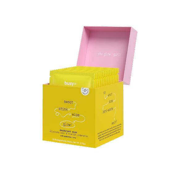 Busy Co. Glow Nourishing Deodorant Wipes
