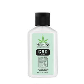Hempz Herbal Body 300mg CBD Aromatherapy Eucalyptus & Tea Tree Oil Lotion Travel Size