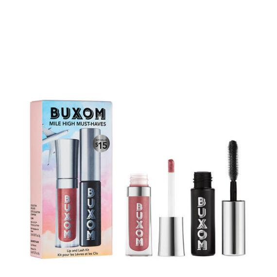 Buxom Mile High Must Haves Lip Gloss and Mascara Set