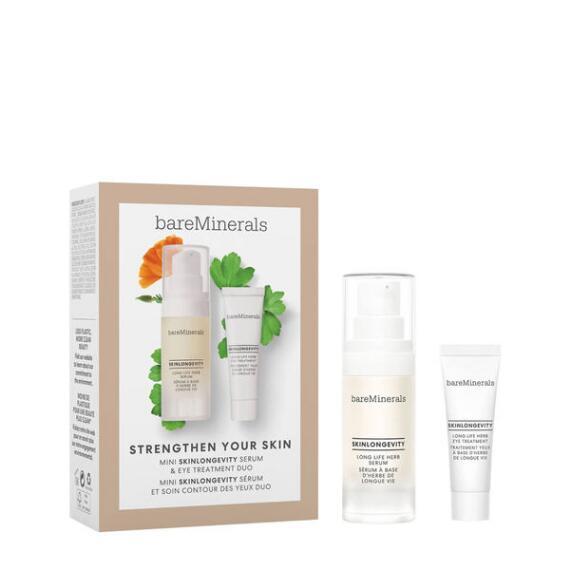 bareMinerals Strengthen Your Skin Mini Skinlongevity and Eye Treatment Set