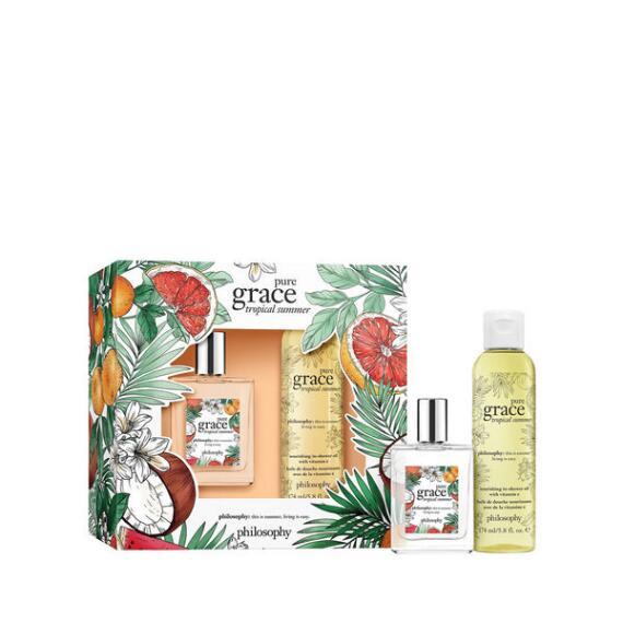philosophy pure grace tropical summer 2 piece fragrance set