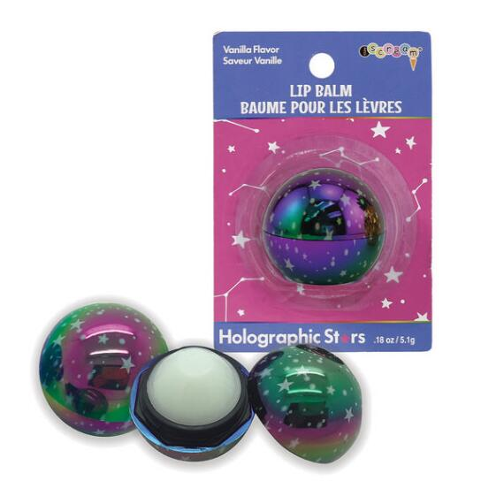 iscream Holographic Stars Lip Balm