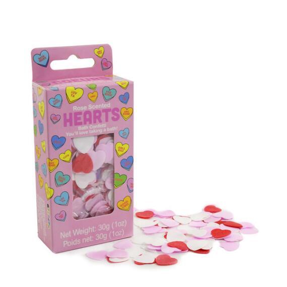 iscream Rose Scented Hearts Bath Confetti