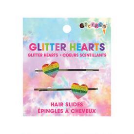iscream Glitter Hearts Hair Slides