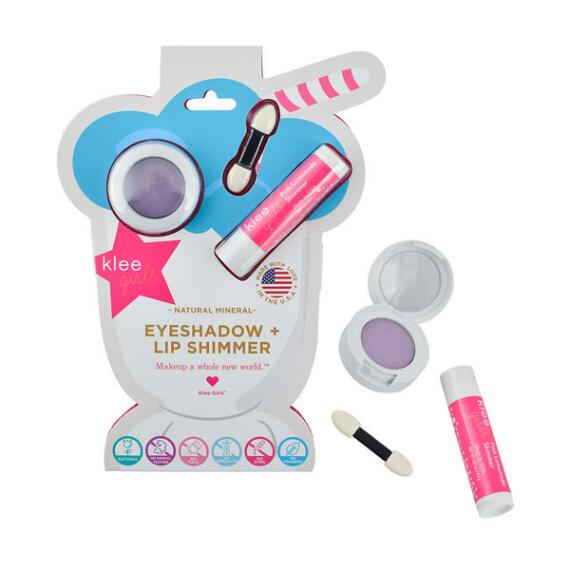 klee kids Naturals Mineral Eyeshadow and Lip Shimmer Duo - Fairy Purple