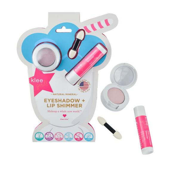 klee kids Naturals Mineral Eyeshadow and Lip Shimmer Duo - Bubble Gum