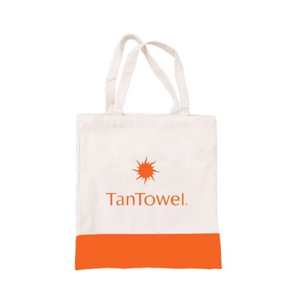 Tan Towel Tote Bag