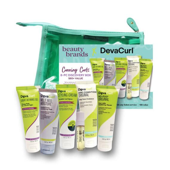 Beauty Brands Cunning Curls 8-Pc Discovery Bag