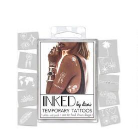 INKED by Dani White Ink Temporary Tattoo Pack