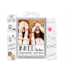 INKED by Dani Besties Temporary Tattoo Pack