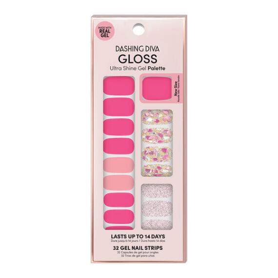 Dashing Diva Ultra-Shine Gloss Shine Gel Nail Strips - Summer Collection
