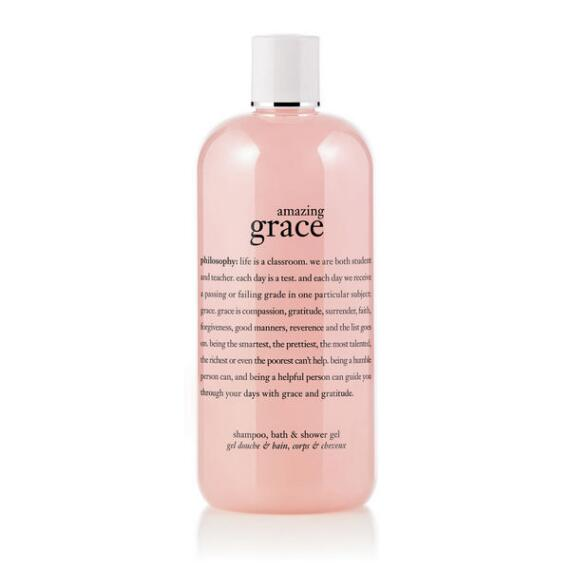 philosophy amazing grace shampoo, shower gel and bubble bath