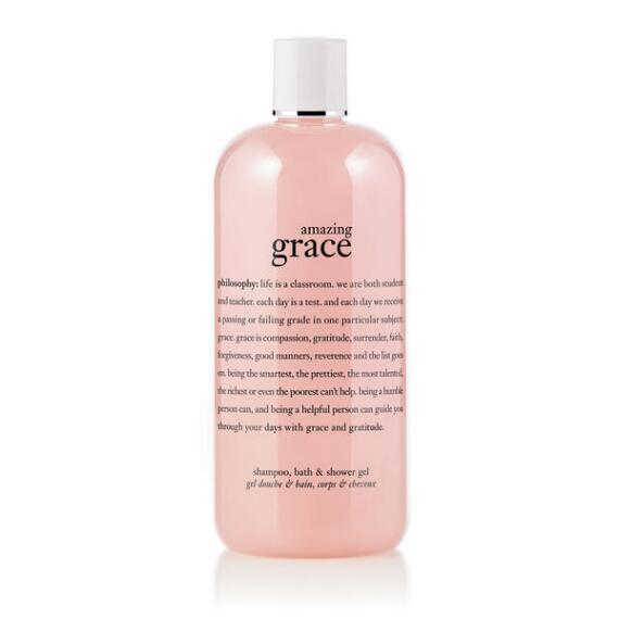 philosophy amazing grace shampoo, shower gel and bubble bath