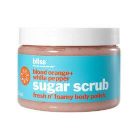 bliss blood orange + white pepper sugar scrub