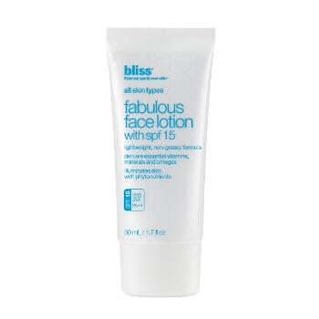 bliss fabulous face lotion...