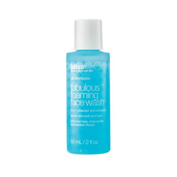bliss fabulous foaming face wash to go