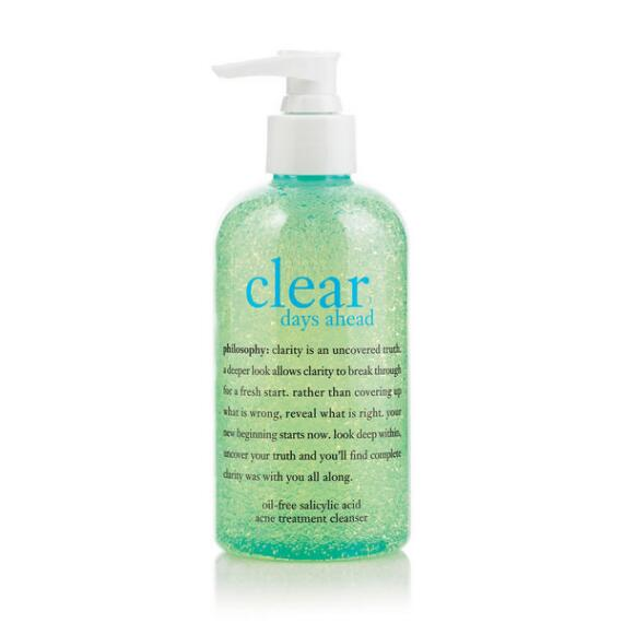 philosophy clear days ahead oil-free salicylic acid acne treatment cleanser