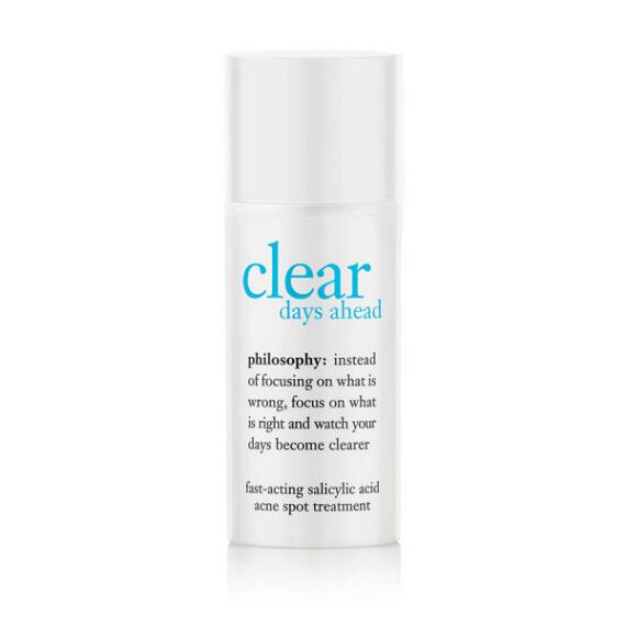 philosophy clear days ahead fast-acting salicylic acid acne spot treatment