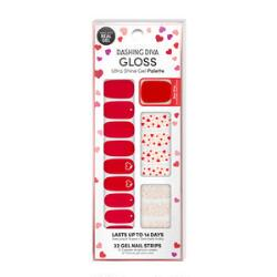 Dashing Diva Ultra-Shine Gloss Gel Nail Strips Valentine's Day 2021