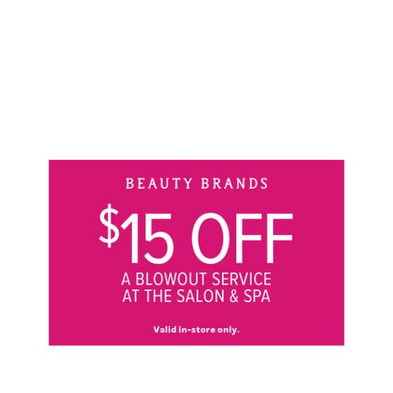$15 off Blowout Coupon